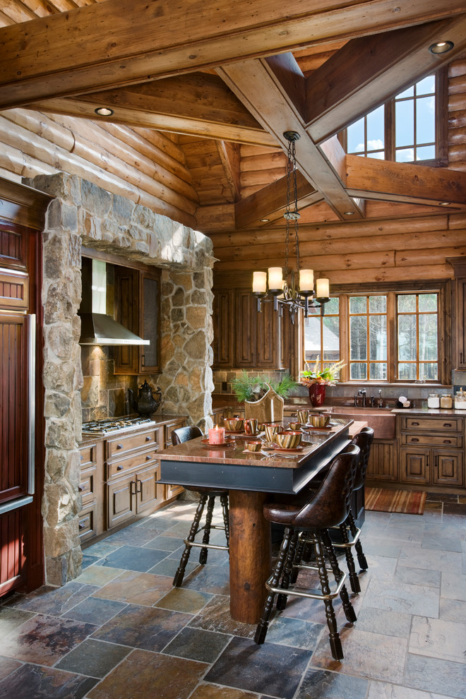 Westwind Shores Rustic Kitchen Other By Tomahawk Log Country Homes Inc