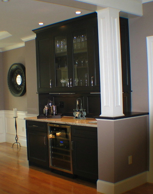 Wet Bar ~ In Espresso Bean by Ben Moore - Contemporary - Dining Room - boston - by Taylor Made ...
