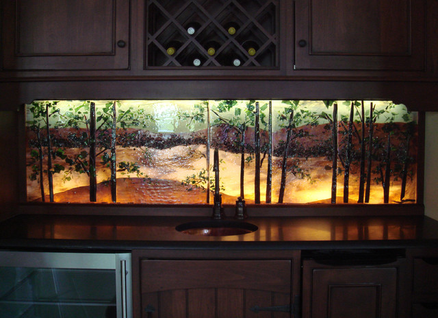 backlit backsplash - backsplashes
