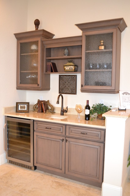 Wet Bar Traditional Family Room Other Metro By