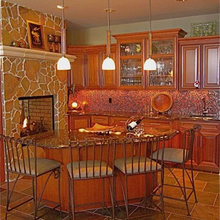 WET BAR in Kitchen @ Fireplace