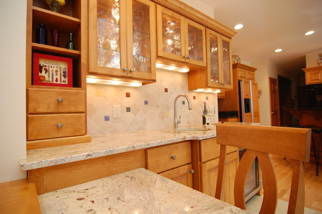 Wet Bar Remodel in Brookfield traditional-kitchen