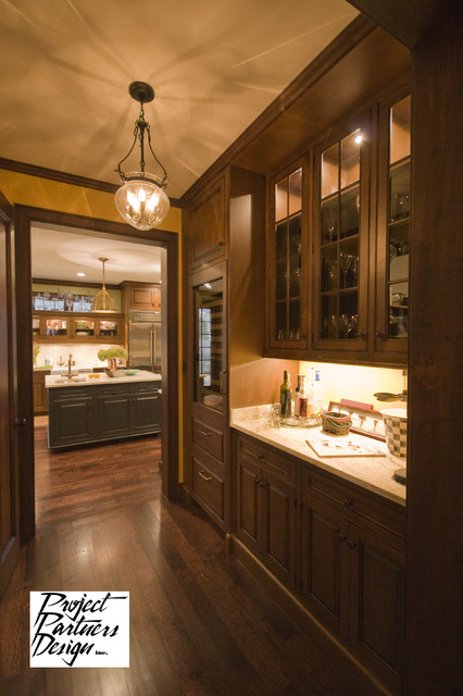 Wet Bar with Wine Chiller traditional-kitchen