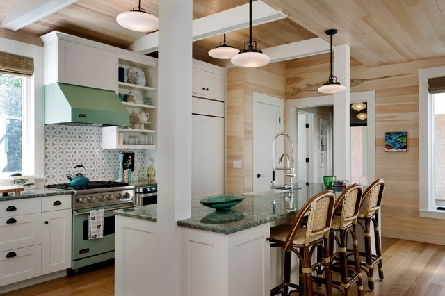 Wharf House Beach Style Kitchen Portland Maine By Wright Ryan Homes