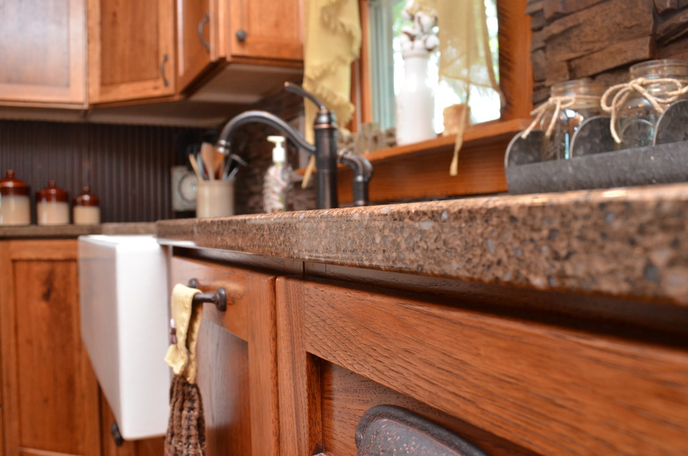 Wheatfield In Haas Cabinetry Hickory Kitchen Rustic Kitchen Other By Bailey S Cabinets