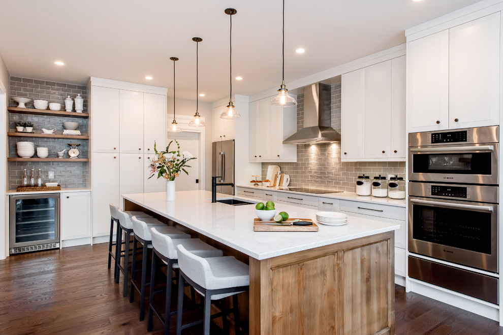 Whimsical Wood Transitional Kitchen Calgary By Redl World Class Kitchens