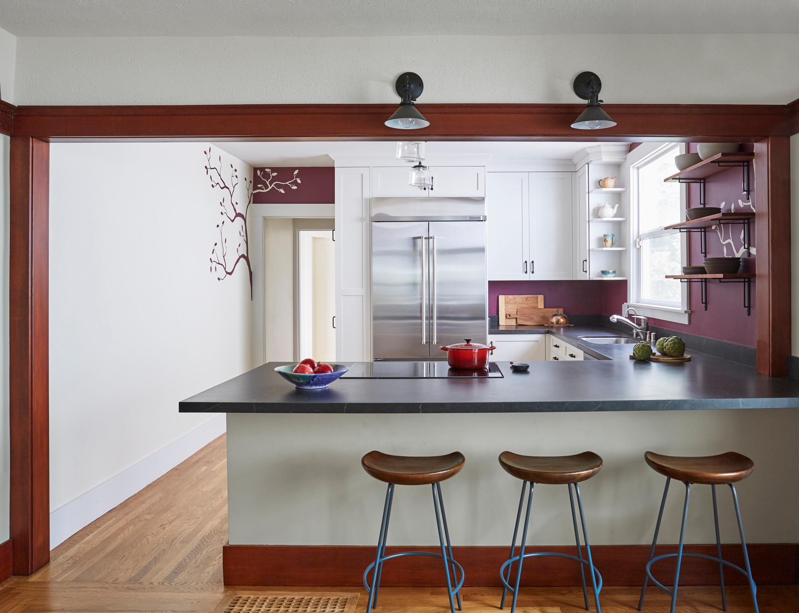 Burgundy Walls Kitchen Ideas Houzz