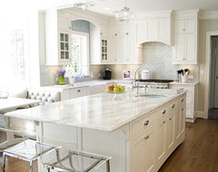 White and Aqua Kitchen traditional kitchen