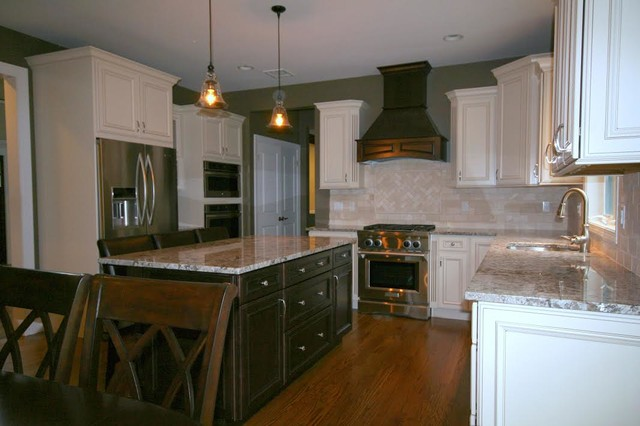 White And Black Kitchen Traditional Kitchen Other By Five Star Kitchen Design Center