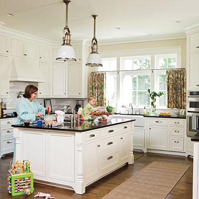 White & Black Kitchen traditional-kitchen