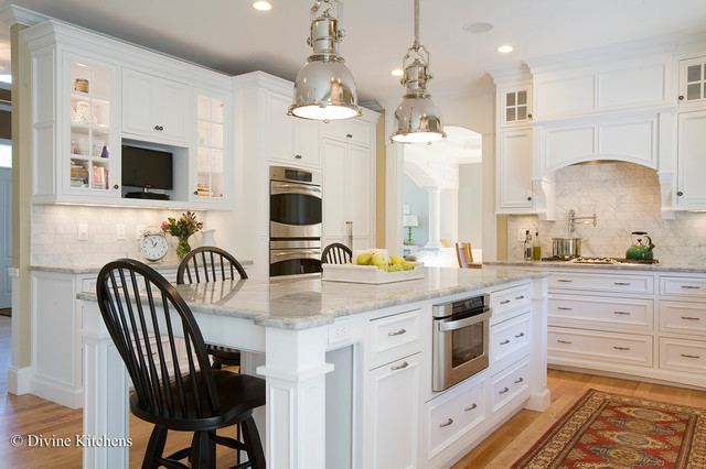 White and Bright - Traditional - Kitchen - Boston - by Divine Design ...