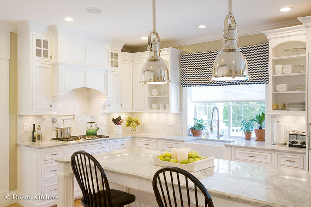 White And Bright Traditional Kitchen Other Metro