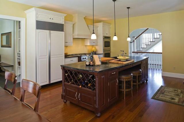 White and Cherry Inset custom kitchen traditional-kitchen