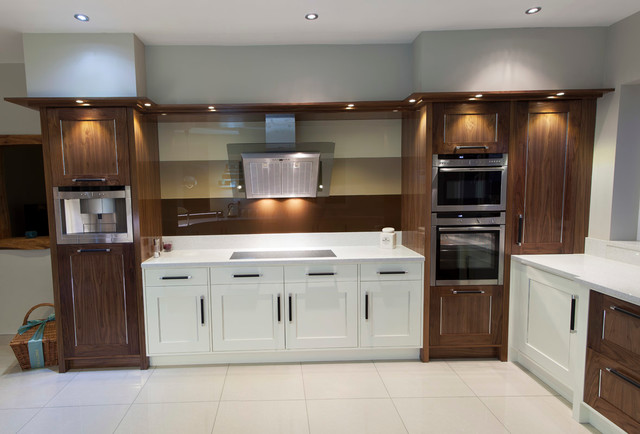 White Dark Wood Mix Kitchen Designed Fitted Design By Simon Tri