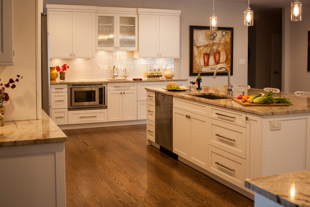 White Gold Gathering Kitchen Contemporary Kitchen Other By Cranbury Design Center Llc