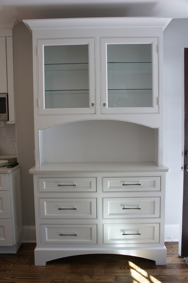White and Gray Kitchen Remodel in West Hartford, CT ...