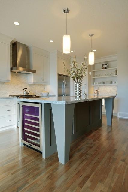 White & Grey Kitchen contemporary-kitchen
