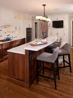 white and walnut kitchen transitional kitchen minneapolis by inview interior design. Black Bedroom Furniture Sets. Home Design Ideas