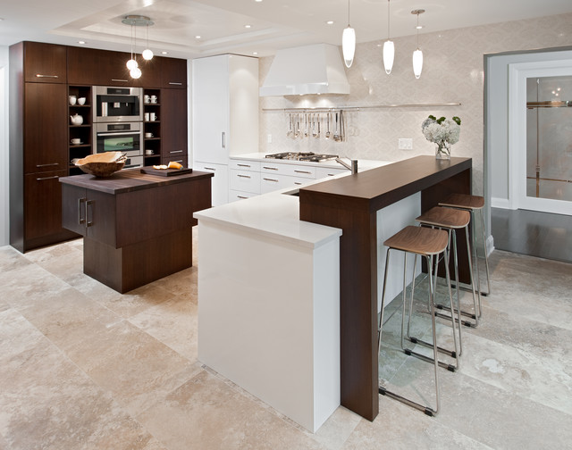 White And Warm Contemporary Kitchen Ottawa By Design First Interiors