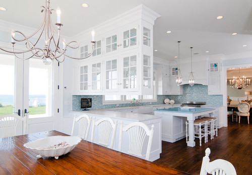 traditional kitchen Color of the Month: Decorating with Light Blue