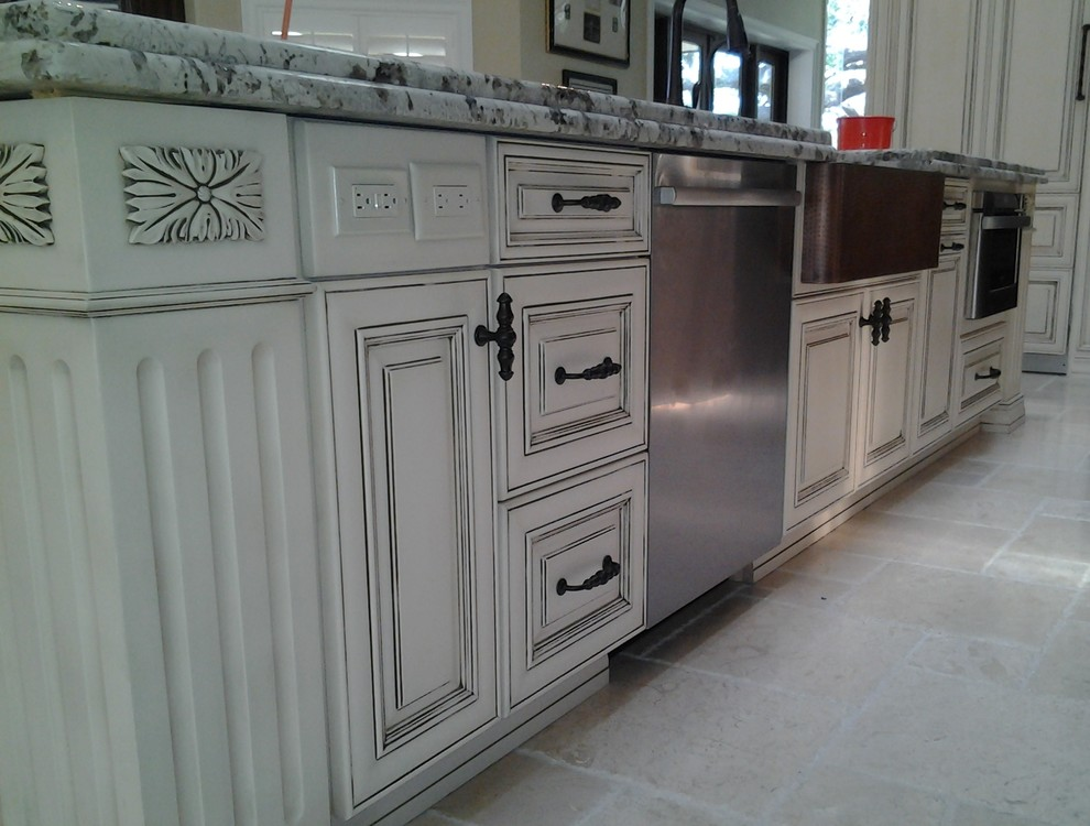 White Antique Kitchen in Clearwater, FL - Traditional ...