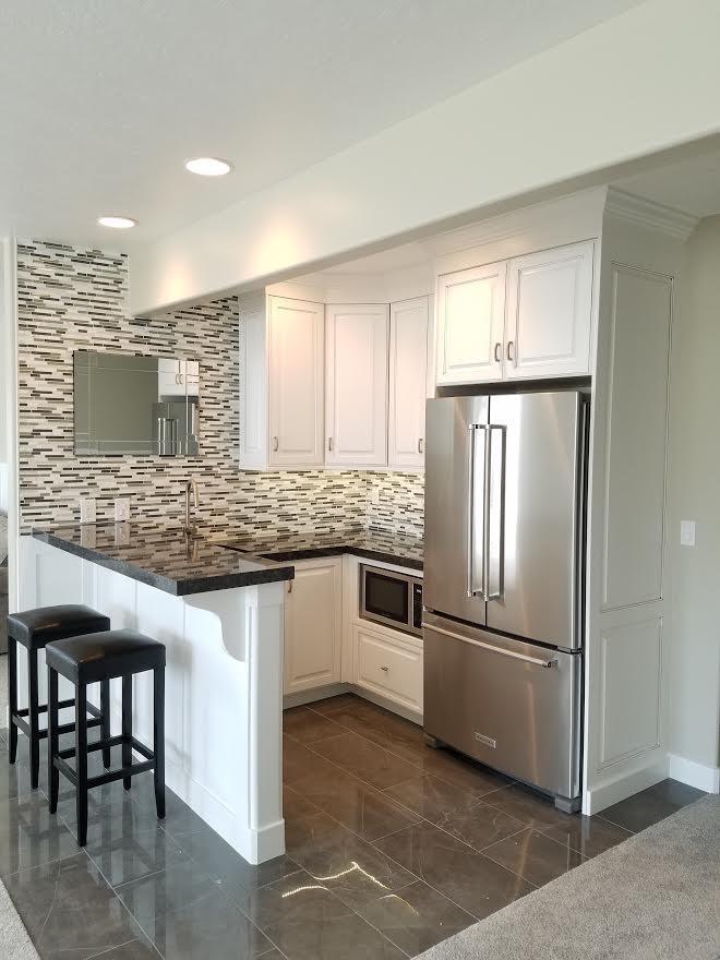 White Basement Kitchenette Contemporary Kitchen Salt Lake City By Cw Designs Houzz
