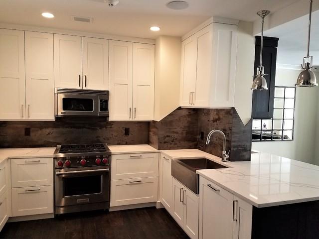 white black transitional kitchen bar with dekton trilium. Black Bedroom Furniture Sets. Home Design Ideas