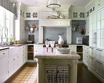 white blue kitchen traditional kitchen