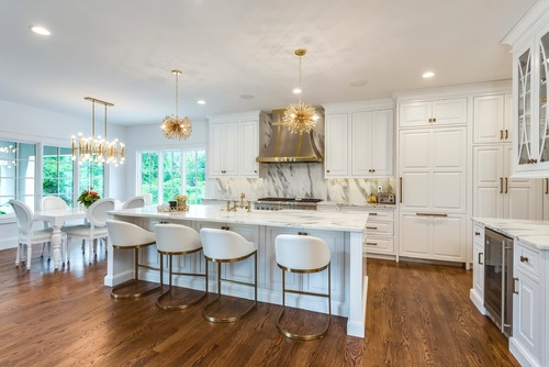 White + Brass Fashion-Forward Kitchen