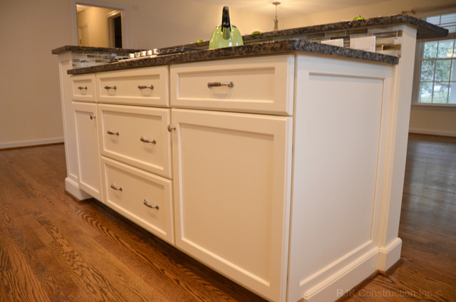 White Cabinetry Kitchen with Island traditional-kitchen