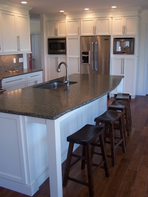 White Cabinets Antiqued Silver Sea Green Modern