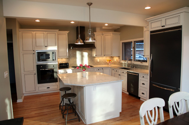 white classic kitchen design - traditional - kitchen - denver -