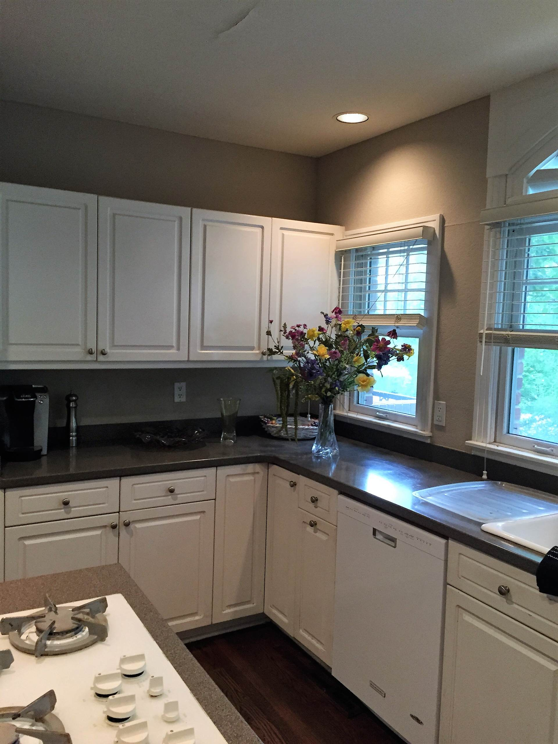 White Contemporary kitchen remodel-Before