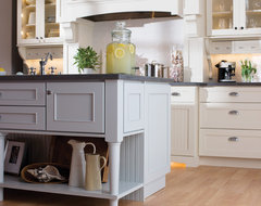 White Cottage Styled Kitchen eclectic-kitchen