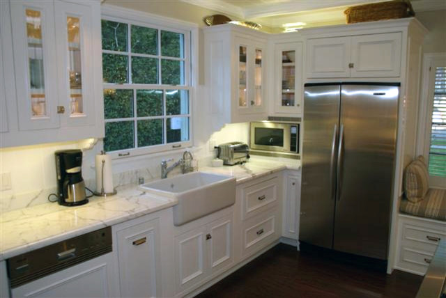 White Country Kitchen Remodel Traditional Kitchen