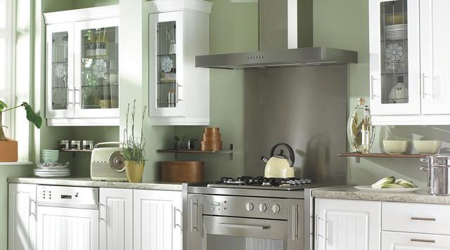 White Country Style Kitchen Contemporary Kitchen
