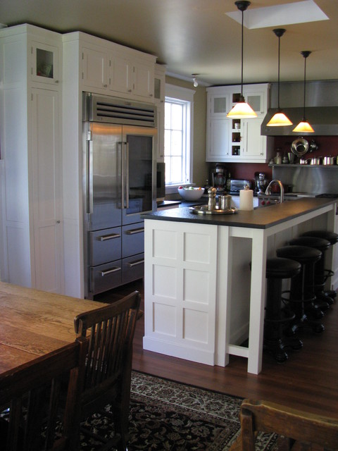 White Craftsman Style Traditional Kitchen traditional kitchen