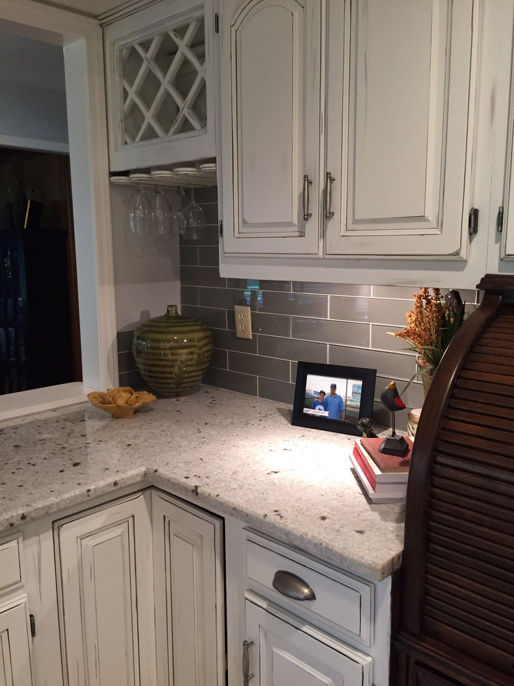 White Dove Kitchen Cabinets And Wine Rack Contemporary Kitchen Kansas City By Mix It Up Custom Painting