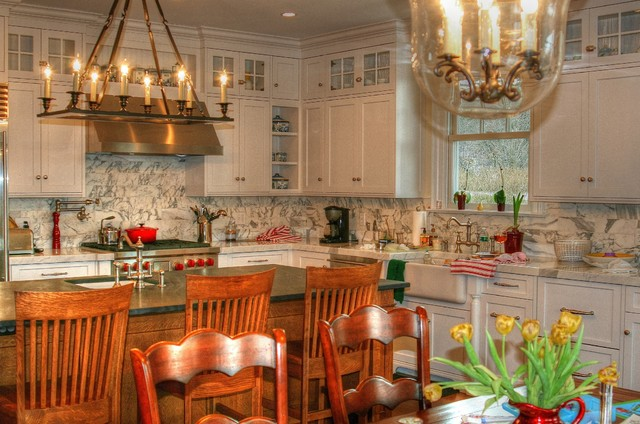 White English Country Kitchen - Traditional - Kitchen - new york - by CCS Woodworks Inc.