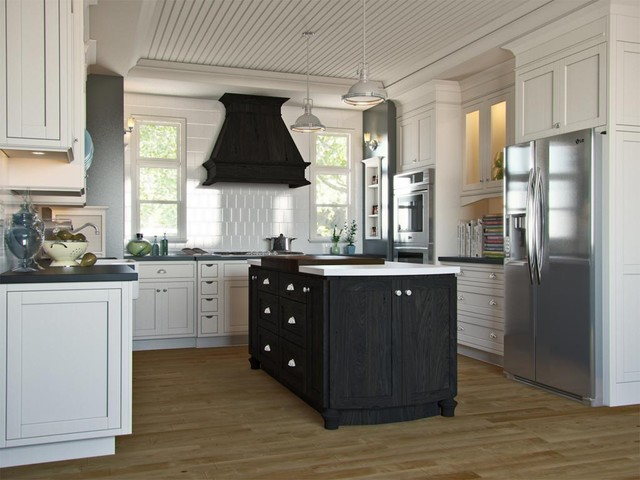 White English Style Kitchen traditional kitchen