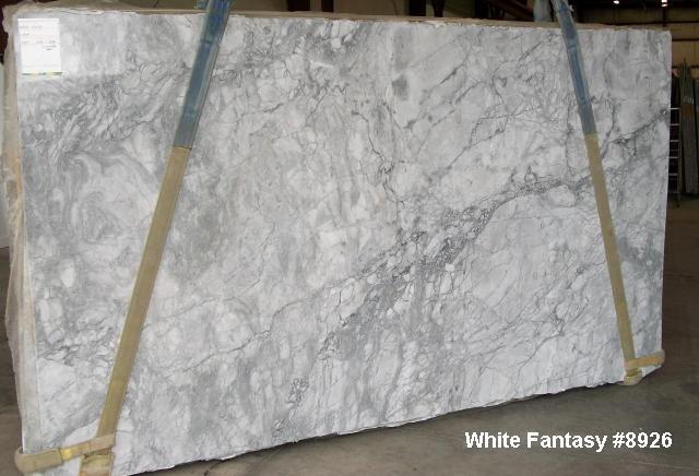 White Fantasy Granite Traditional Kitchen Cleveland