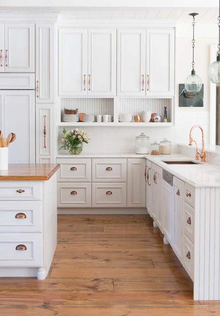 White Farmhouse Kitchen , Town \u0026 Country, MO , Farmhouse