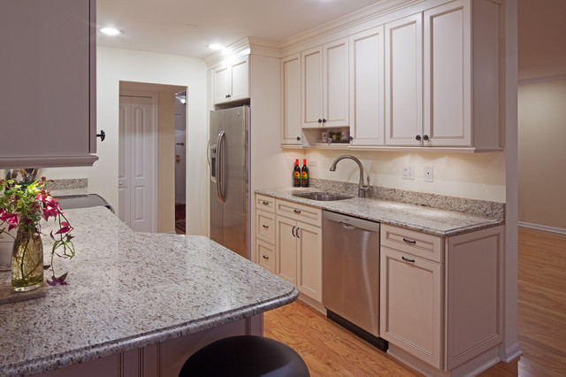 White galley kitchen traditional kitchen chicago for Traditional galley kitchens
