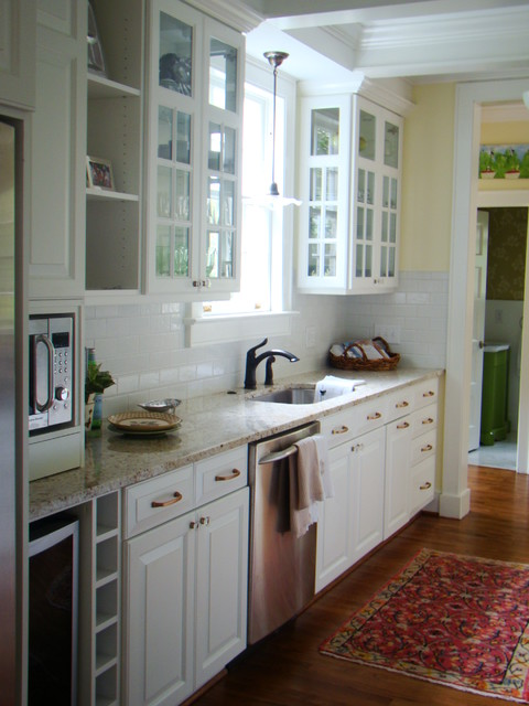 White galley kitchen traditional charlotte by for White galley kitchen pictures