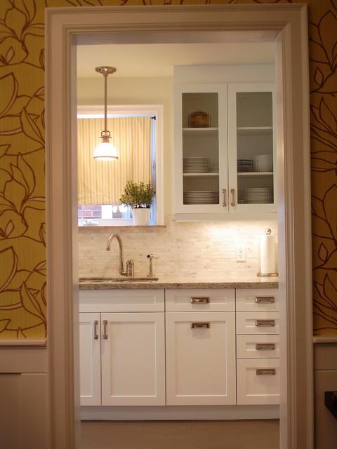 White Galley Kitchen contemporary-kitchen