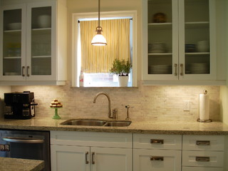 White Galley Kitchen contemporary kitchen