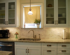 White Galley Kitchen contemporary-kitchen