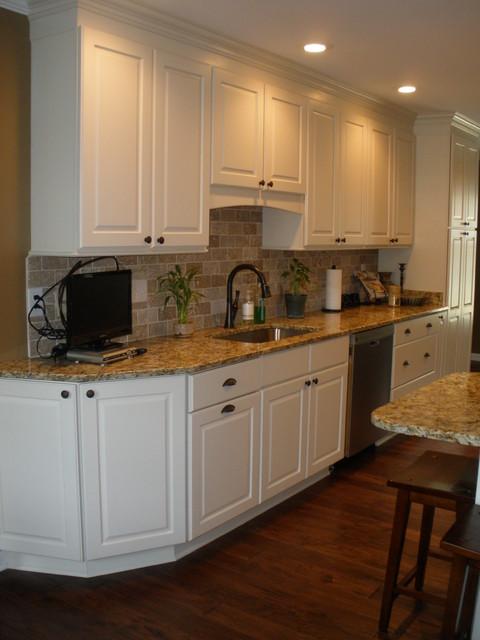 White Galley Kitchen traditional-kitchen