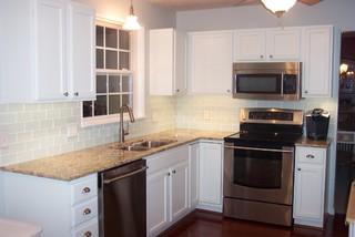 White Glass Subway Tile Kitchen Backsplash - Traditional - Kitchen - Other - by Subway Tile Outlet
