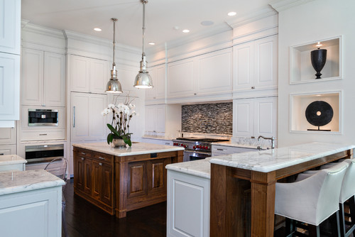 White Gourmet Kitchen